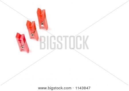 Clothepegs Isolated On White