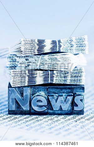 news in lead letters