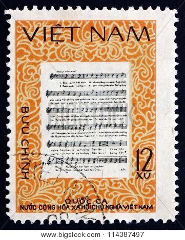 Postage Stamp Vietnam 1980 National Anthem