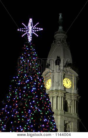 Clocktower At Christmas