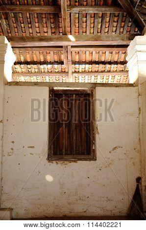 Window of the Old Mosque of Pengkalan Kakap in Merbok, Kedah