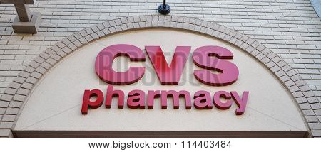 CVS Logo On Wall