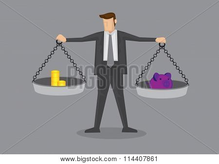 Cost-benefit Analysis Vector Illustration