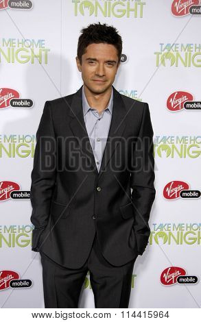 HOLLYWOOD, CALIFORNIA - March 2, 2011. Topher Grace at the Los Angeles premiere of