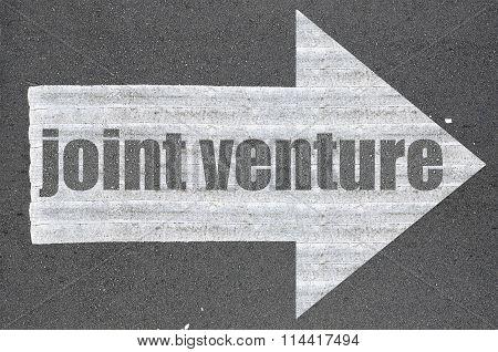 Arrow On Asphalt Road Written Word Joint Venture