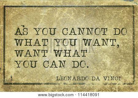 Want Can Do Davinci