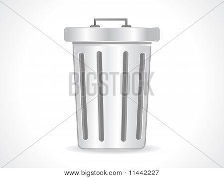 Abstract Glossy Trash Icon