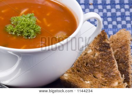 Tomato Soup And Toast