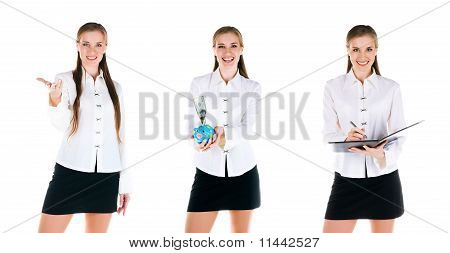 Set Of A  Young Business Women Photos