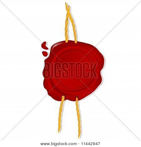 Emtpy Wax Seal With Cord