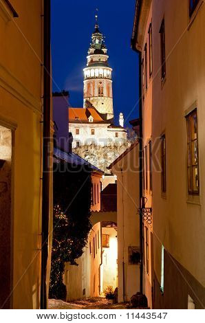 Narrow Street Of Cesky Krumlov