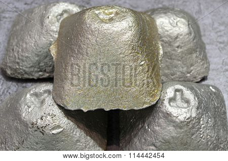 Casting Of Metal In The Shape Of A Tetrahedron