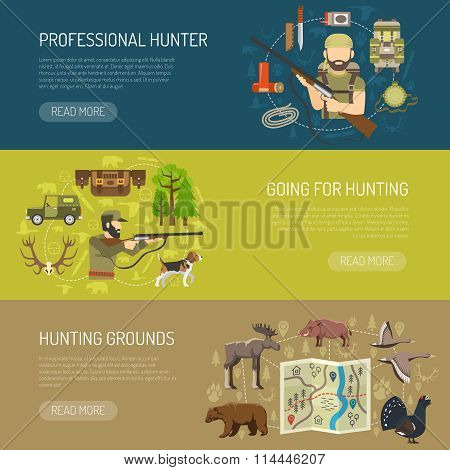Hunting Horizontal Banners Collection