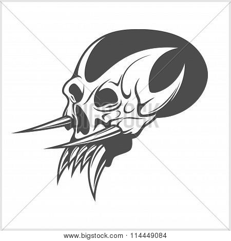skull demon or evil horror
