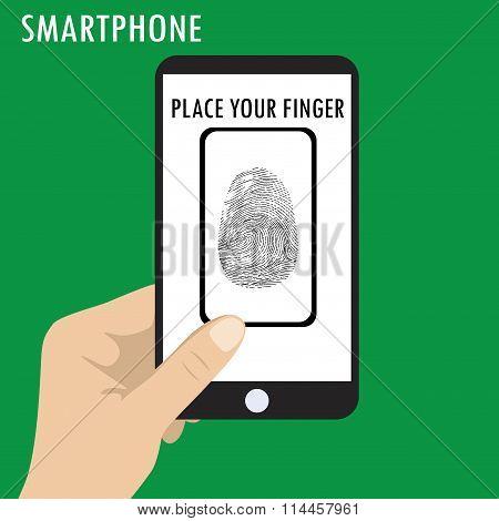 Phone Scanning A Fingerprint