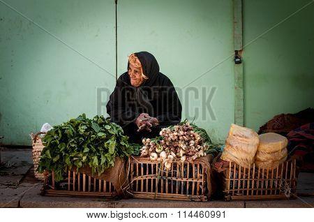 Woman Selling Vegetables, Aswan