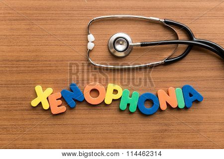 Xenophonia Colorful Word