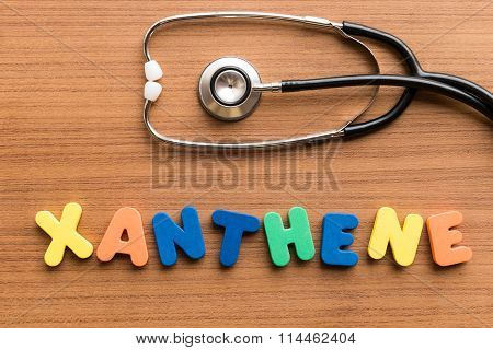 Xanthene Colorful Word