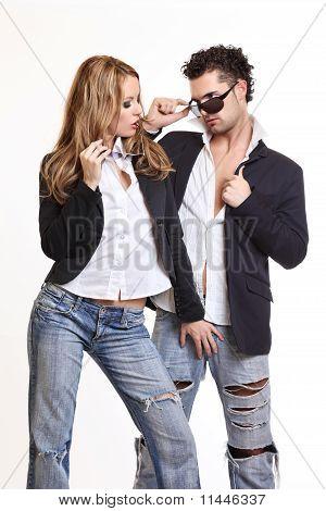 Sexy Lady Flirting With Her Boyfriend