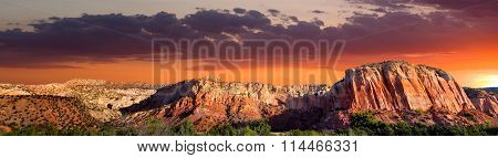 Sunset At Ghost Ranch