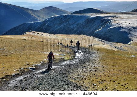 Mountain Biking On Helvellyn