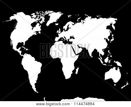 Map world black white