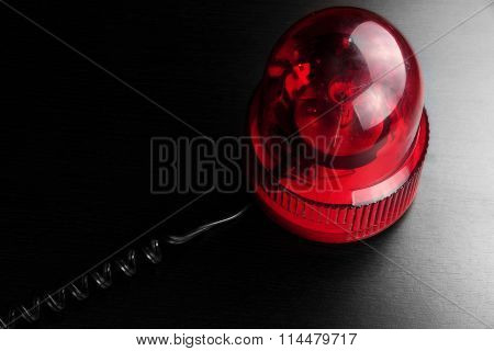 Red Vehicle Police Strobe Rotating Warning  Emergency Beacon Flashing