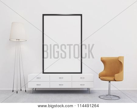 Chair At A Blank Frame