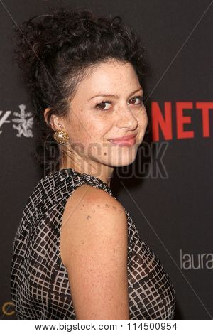 BEVERLY HILLS, CA - JAN. 10: Alia Shawkat arrives at the Weinstein Company and Netflix 2016 Golden Globes After Party on Sunday, January 10, 2016 at the Beverly Hilton Hotel in Beverly Hills, CA.