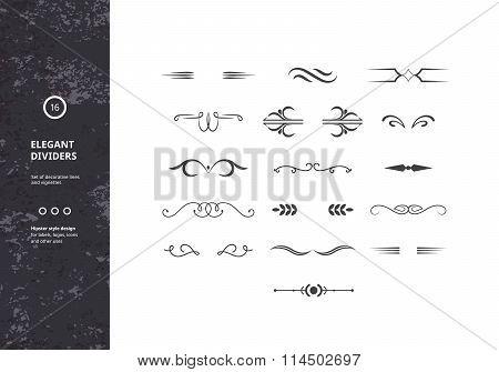 Vector Set Of Vintage Calligraphic Borders
