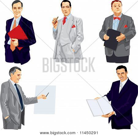 Businessman In Splendid Suit.