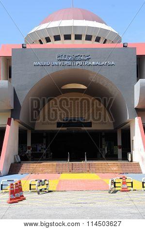Entrance of Malaysia Putra University Mosque or Masjid UPM at Serdang, Selangor, Malaysia