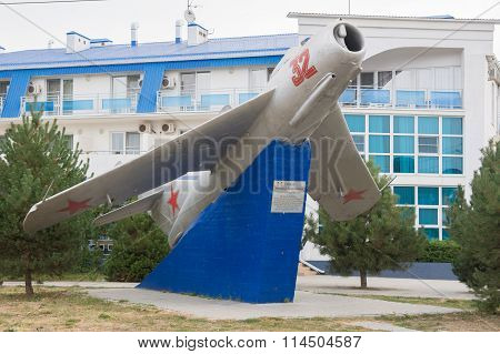 Monument In Honor Of N.d.gulaeva - Jet Plane Mig-17 Of 1949, Anapa, Russia