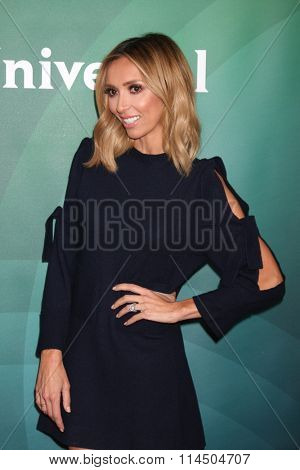 LOS ANGELES - JAN 14:  Giuliana Rancic at the NBCUniversal Cable TCA Press Day Winter 2016 at the Langham Huntington Hotel on January 14, 2016 in Pasadena, CA