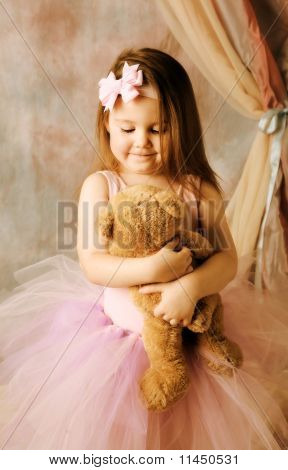 Little Ballerina Beauty Hugging Teddy Bear
