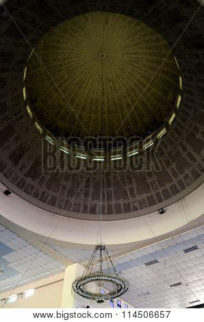 Inside main dome of Malaysia Putra University Mosque