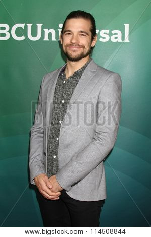 LOS ANGELES - JAN 14:  Nathan Phillips at the NBCUniversal Cable TCA Press Day Winter 2016 at the Langham Huntington Hotel on January 14, 2016 in Pasadena, CA