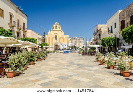 Main Street Of Favignana, Aegadian Islands, Italy