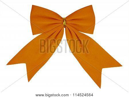 Velvet Bow - Orange