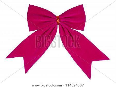 Velvet Bow - Pink