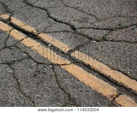 Cracks in the road