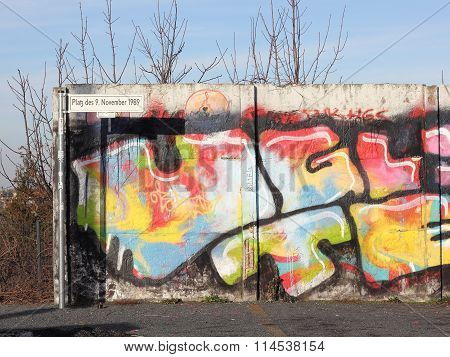Fragment Of Berlin Wall At The Bornholm Bridge