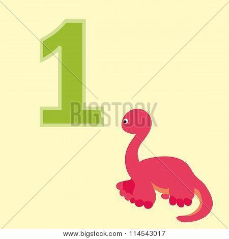 Number One. One Dinosaur (diplodocus).