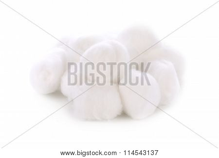 Cotton Swabs Isolated On White Background