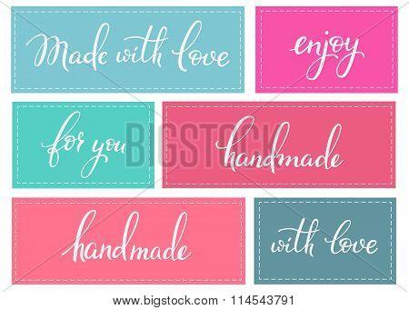 Handmade Lettering Sticker Set