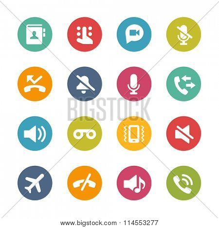 Web and Mobile Icons 1 // Fresh Colors Series ++ Icons and buttons in different layers, easy to change colors ++