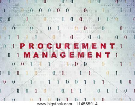 Finance concept: Procurement Management on Digital Paper background