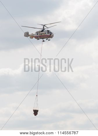 Emergency Situations Ministry Helicopter Carries Water