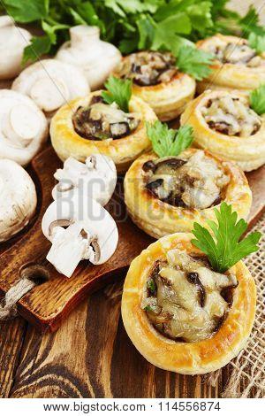 Vol Au Vent With Mushroom Stuffing