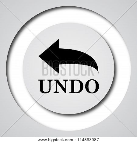 Undo icon. Internet button on white background. poster